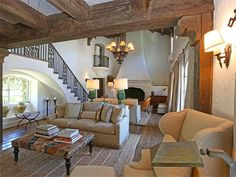 Reese Witherspoon Ojai ranch- another view of the living room