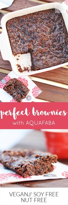 Perfect Vegan Brownies with AQUAFABA! Fudgey, dense, sweet, chocolatey—and a perfect crackle top!