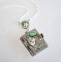 Lovely and cool book charm locket