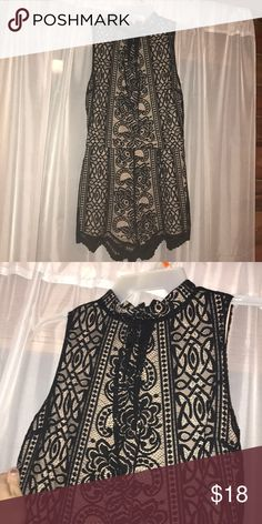 Lace romper Black and Tan lace romper. Brand new. Silly on the inside. Other