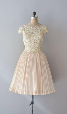 Cream lace 50s dress by DearGolden