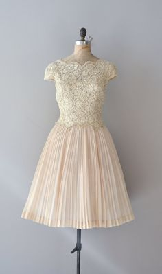 Promise Me This 1950s dress cream lace 50s dress by DearGolden