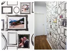 Photo Frame Wallpaper | Akemi Photographer - would love to do this on stairway wall