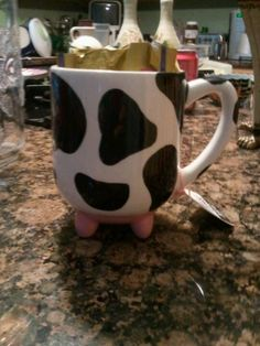 Cow coffee mug for my brother Kirk.  We have a cow thing going on.