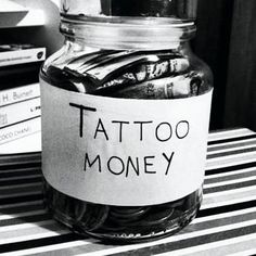 Totally need a tattoo money jar...