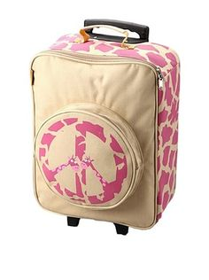 61% OFF D&N Kids Peace Giraffe Rolling Suitcase