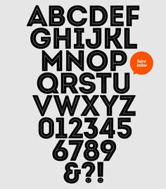 Big, bold and beautiful: free font from Miroslav Bekyarov. (To download go to http://fontfabric.com/intro-free-font/)