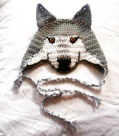 Crochet Wolf Hat Wolf Beanie Newborn Photo Props by TheThriftyWolf Crochet  Wolf 5b761fd41aa