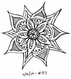 #97 - Sketchbook : 100 Mandalas Challenge Week 15 - KitsKorner.Com