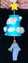 Great craft to teach about Jesus ascending to Heaven