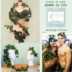 ADAM AND EVE Style & Handmade by ArtEcò Creazioni di Annalisa Benedetti #artecocreazioni #annalisabenedetti   #theatercostume #costume #adam #eve