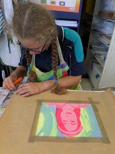 Screenprinting Yr 8 student -cutting final stencil Berkley Art, Screenprinting, Stencils, Student, Summer Dresses, Room, Bedroom, Screen Printing, Summer Sundresses