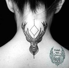 minimalist deer gray tattoo inked girl drink ink tattoo studio poland https://web.facebook.com/drinkINKtattoo
