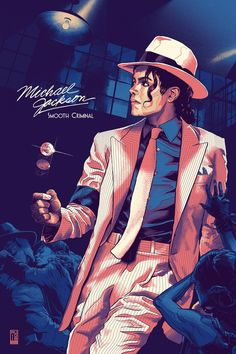 michael jackson - smooth criminal (art by aurelio lorenzo)