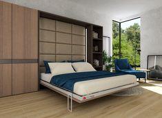 ClickBed V łożko chowane w szafie z pionowym mechanizmem otwierania. Bed Wall, Murphy Bed, Outdoor Furniture, Outdoor Decor, Armoire, Bedroom, Home Decor, Design Ideas, Houses