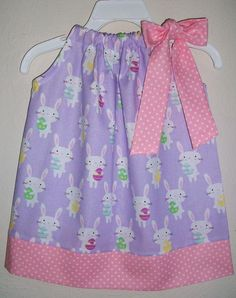 Monogram Pink Chevron Easter Pillowcase Dress  3 month 7 year