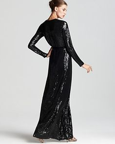 amazing dvf sequin gown
