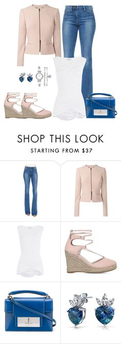 """""""Untitled #911"""" by gallant81 ❤ liked on Polyvore featuring Frame Denim, L.K.Bennett, Bailey 44, Carvela, Marc Jacobs, Bling Jewelry and Anne Klein"""
