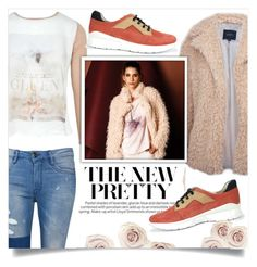 """new pretty"" by tuaptstore on Polyvore featuring neutrals, sneakers, fashionset, newchic and fw1617"