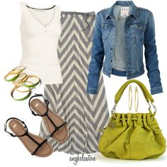 Cute outfit! Love the green purse.
