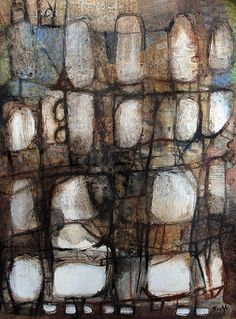 """""""Spring Forward"""", mixed media on paper by Scott Bergey."""