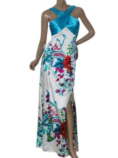 Ever Pretty Floral Printed Satin Splited Ladies « Clothing Impulse