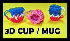 Rainbow Loom Charms: 3D CUP / MUG (DIY Mommy) Tutorial / Design
