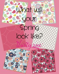 Spring 2014 is blooming! Check out all the items in your new favorite pattern at https://www.mythirtyone.com/kelseypierce/