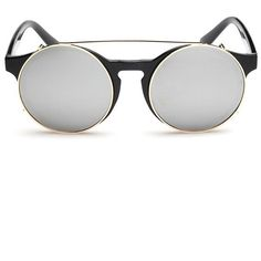 cfe478bb153e LUCLUC Silver Dual Flip Plain Mirror Sunglasses (12 AUD) ❤ liked on Polyvore