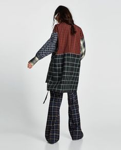 Image 3 of OVERSIZED PATCHWORK SHIRT from Zara