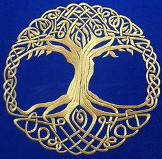 Machine Embroidery Patterns Advanced Embroidery Designs - Celtic Tree of Life Border Embroidery, Free Machine Embroidery Designs, Embroidery Alphabet, Embroidery Thread, Celtic Patterns, Celtic Designs, Celtic Symbols, Celtic Art, Celtic Knots