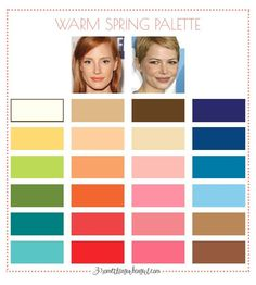 Spring Color Palette, Warm Colour Palette, Colour Pallete, Spring Colors, Light Spring, Warm Spring, Warm Autumn, Seasonal Color Analysis, Colors For Skin Tone