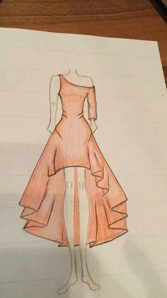 (notitle) – Drawings – - From Parts Unknown Dress Design Drawing, Dress Design Sketches, Fashion Design Sketchbook, Art Drawings Sketches Simple, Dress Drawing, Fashion Design Drawings, Drawing Clothes, Fashion Sketches, Bff Drawings