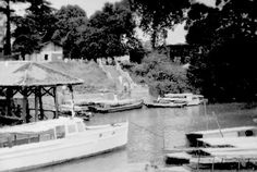 Boats in Changi Creek, c.1947-48