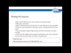 ▶ Affiliate Summit Webinar: When Pinterest Met Affiliate Marketing - YouTube  42 min april 2012  Covers the  legalities