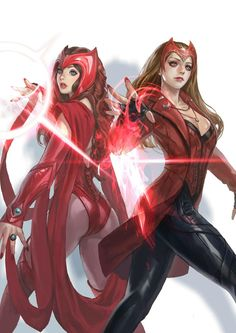 Marvel's Slice of Chaos Magic: A Scarlet Witch Essential Reading Guide - marvel comics Marvel Dc Comics, Marvel Avengers, Heros Comics, Wanda Marvel, Marvel Women, Marvel Girls, Archie Comics, Comics Girls, Marvel Art
