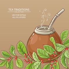 Buy Mate Tea in Calabash by on GraphicRiver. mate tea in calabash on color background Kawaii Drawings, Colorful Drawings, Yerba Mate Tea, Tea Illustration, Tea Logo, Pretty Images, Flower Tea, Food Drawing, Decoupage