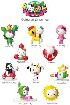 Hello kitty figurens (I think is how you spell it)
