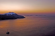 This photo from Dodekanisos, South Aegean is titled 'Astypalaia Island Dawn'. Zorba The Greek, Greek Islands, Sailing, Greece, Europe, Beach, Water, Deep Blue, Outdoor