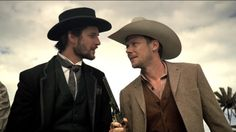 Jimmi Simpson and Ben Barnes in Westworld (2016)
