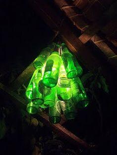 Arte y Arquitectura: Diseño reciclado, lámparas con botellas de vidrio