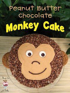 Imagen de cake, pastel, monkey, peanut, chocolate and chango
