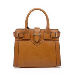 Brown Leather Vintage Handbag pictures