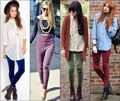 How to Wear Leggings on Different Occasions 10 : Leggings in velvet to achieve warmer chick rocky styles, great to combine with ankle-boots or heels