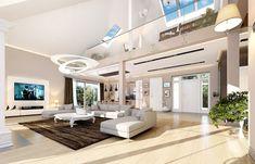 Rezydencja Parkowa 3 on Behance Precast Concrete, Concrete Wall, Home Design Floor Plans, My House Plans, Luxury Homes, Cool Designs, Construction, House Design, Mansions
