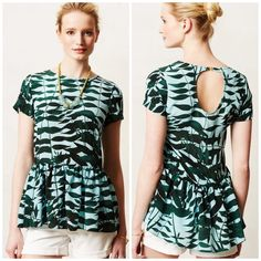 Anthropologie green top An online exclusive from rachel rose. Sold out. Perfect condition. Worn twice. Offers welcome through offer tab. No trades. Anthropologie Tops