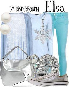 Simple but elegant Elsa outfit.  | Disney Fashion | Disney Fashion Outfits | Disney Outfits | Disney Outfits Ideas | Disneybound Outfits | Frozen Outfit |