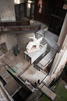 Architecture Renovation, Building Renovation, Space Architecture, Carlo Scarpa, Scapa Home, Ramp Design, Wooden Staircases, Space Museum, Public Garden