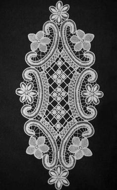 Needle Lace, Bobbin Lace, Lace Patterns, Cross Stitch Patterns, Hand Embroidery, Embroidery Designs, Lace Drawing, Romanian Lace, Border Pattern