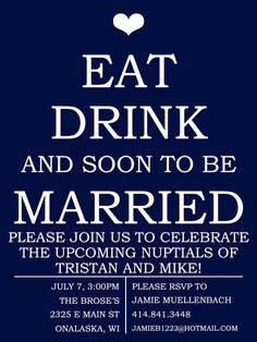 Fun Engagement Party Invitation DIY by WeddingsByJamie on Etsy, $15.00